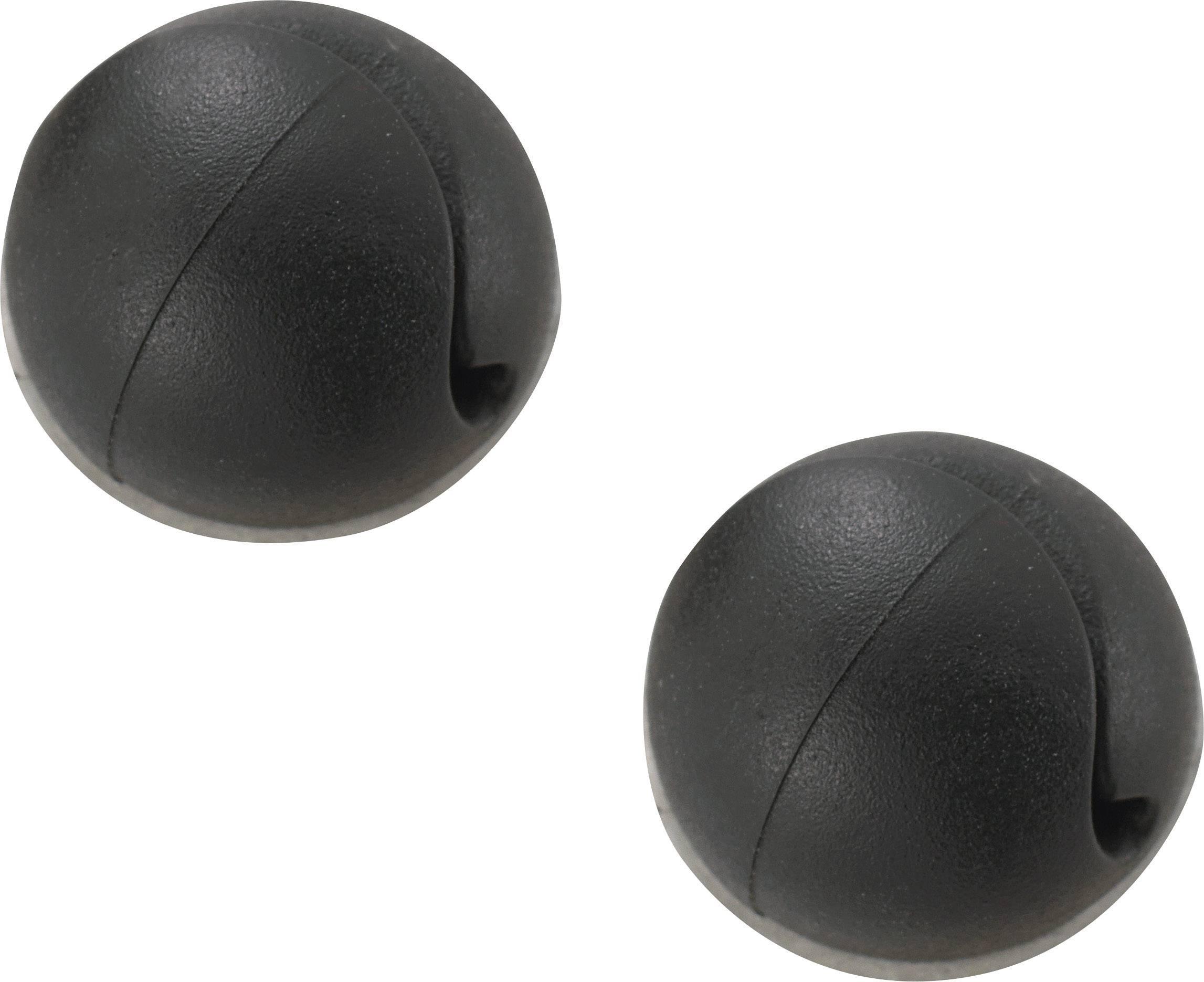 Držiak káblu mini 547057, samolepiaci, 4.20 mm (max), čierna, 1 ks