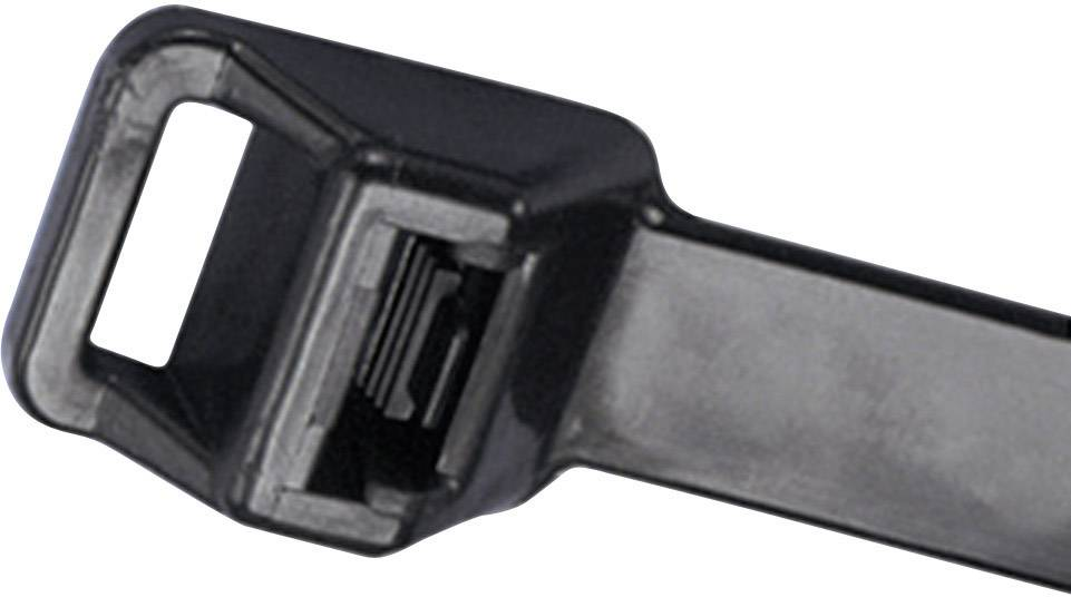 Pan-Ty® Kabelska vezica za ponov. odpiranje in pritrditev (D x Š) 511 mm x 12.7 mm PRT5EH-C0 črna, (UV-odporna) 1 kos, Panduit
