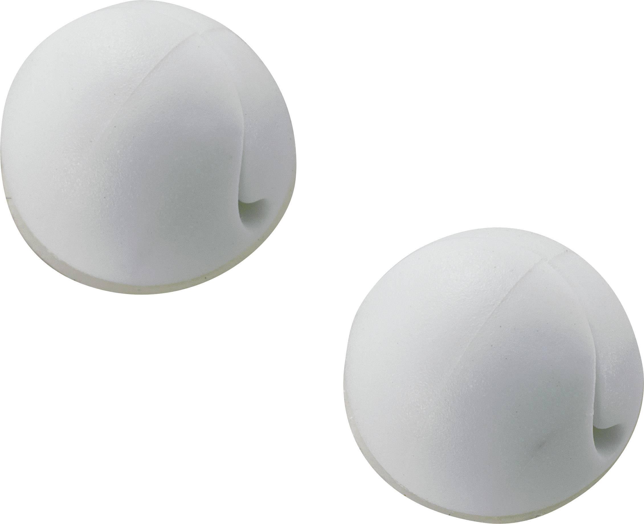 Držiak káblu mini 547112, samolepiaci, 20 mm (max), biela, 1 ks