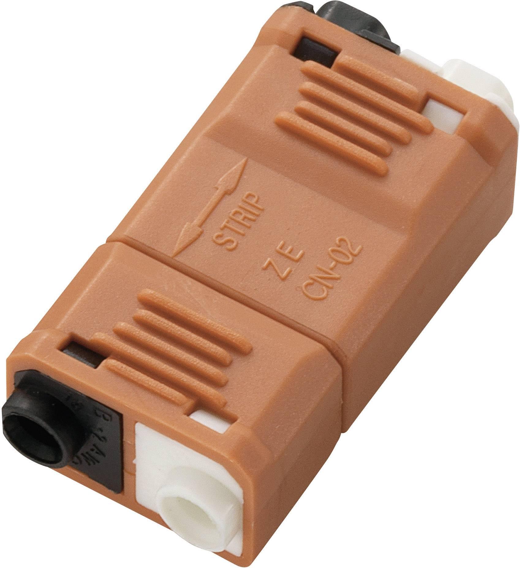 Nízkonapěťový konektor 547189 na kábel s rozmerom - , tuhosť 0.824-3.307 mm², počet pinov 2, 1 ks, oranžová