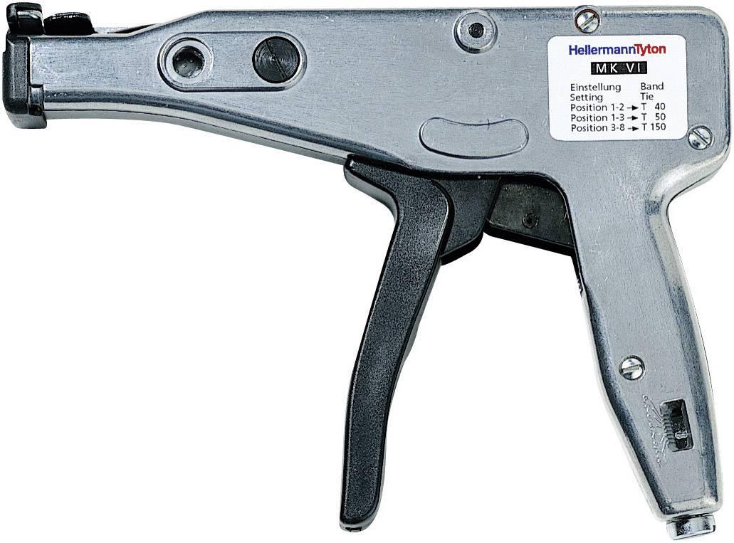 Manuálna pomôcka na spracovanie HellermannTyton MK6 110-06000 sivá, čierna
