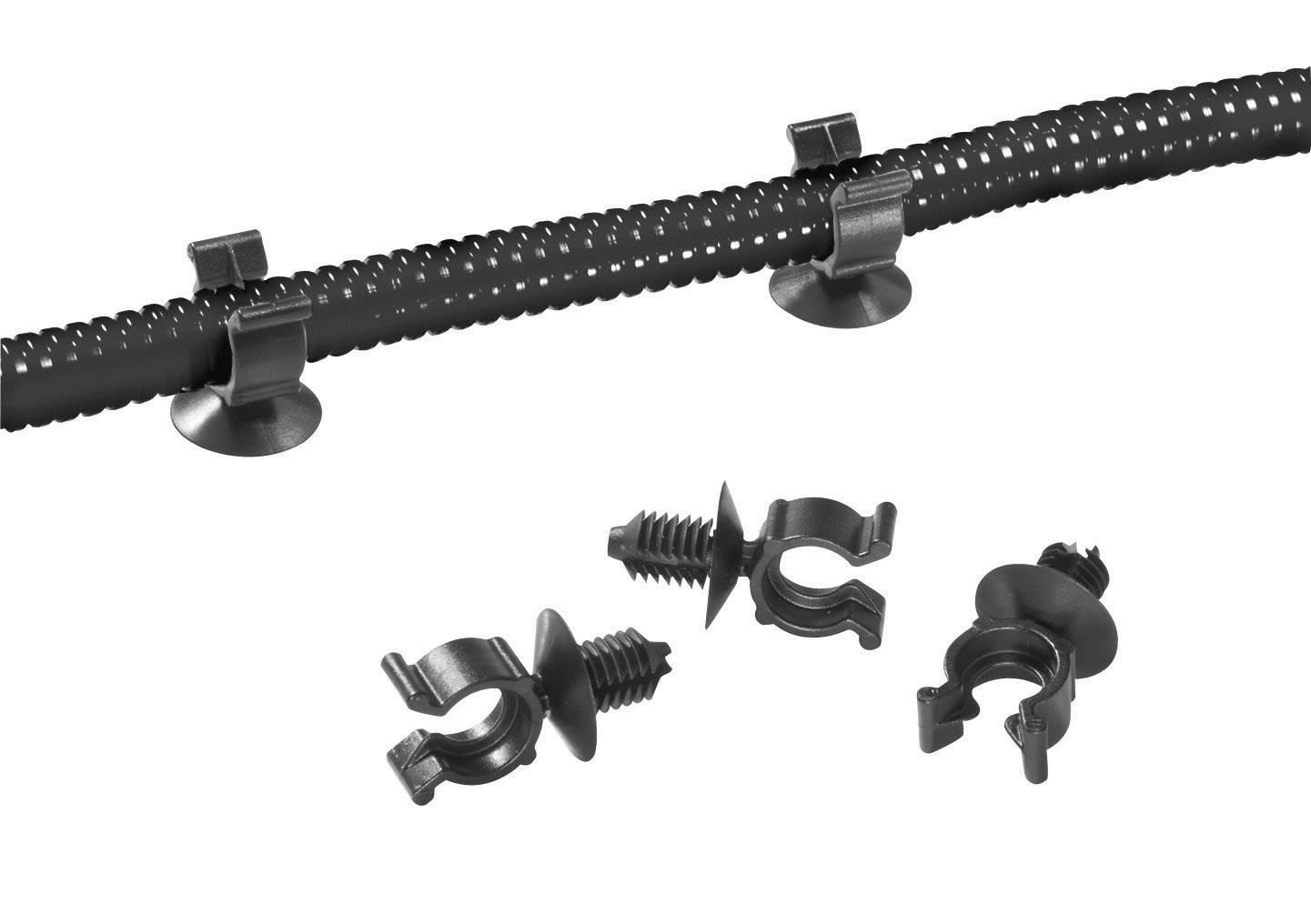 Držák ochranné hadice HellermannTyton CTC13FT6-HIRHS-BK-D1 151-14312, černá, 1 ks