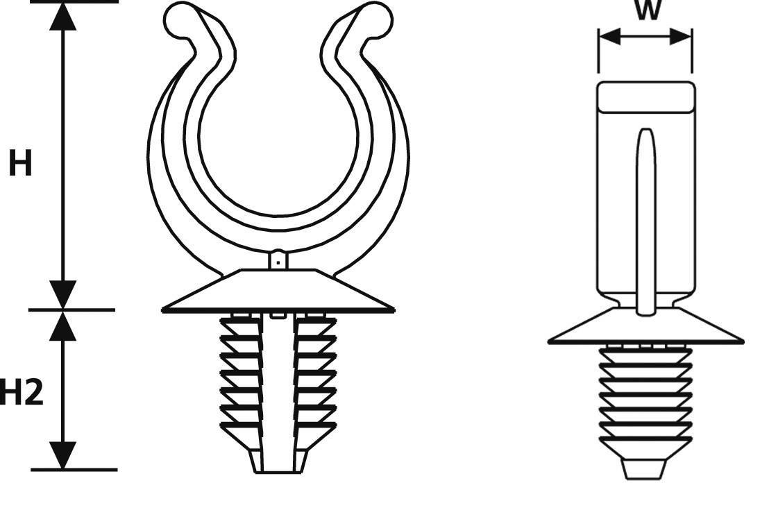 Úchytka na husí krk HellermannTyton CTC22FT9-HIRHS-BK-D1 (155-25201), PA 6.6 (PA66HIRHS)