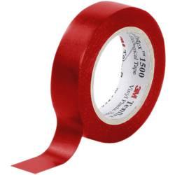 Izolačná páska 3M Temflex™ 1500 FE-5100-8341-6, (d x š) 10 m x 15 mm, červená, 10 m