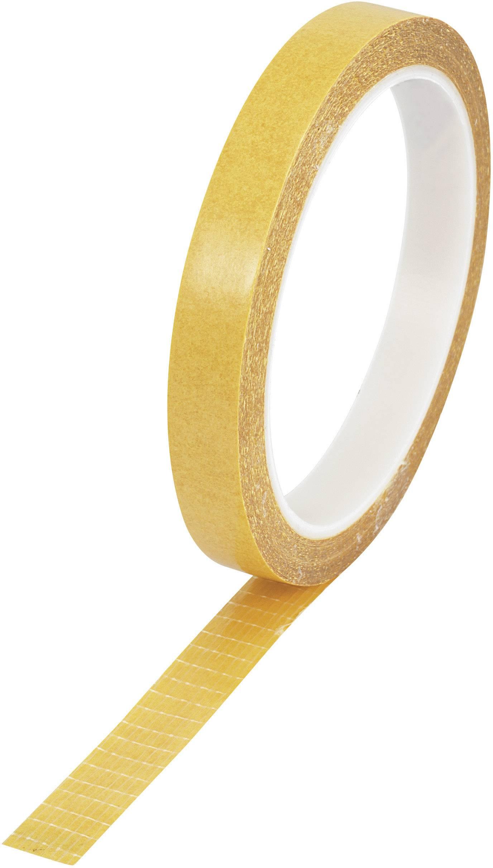 Vláknitá lepiaca páska Conrad Components 9027-125/10M 547848, (d x š) 10 m x 12.5 mm, číra, 1 roliek
