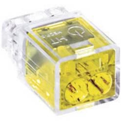 Káblová svorka HellermannTyton HECP-2 na kábel s rozmerom - , pólů 2, 1 ks, žltá