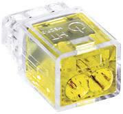 Krabicová svorkovnica HellermannTyton HECP-2 na kábel s rozmerom - , pólů 2, 1 ks, žltá