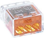 Krabicová svorkovnica HellermannTyton HECP-3 na kábel s rozmerom - , pólů 3, 1 ks, oranžová
