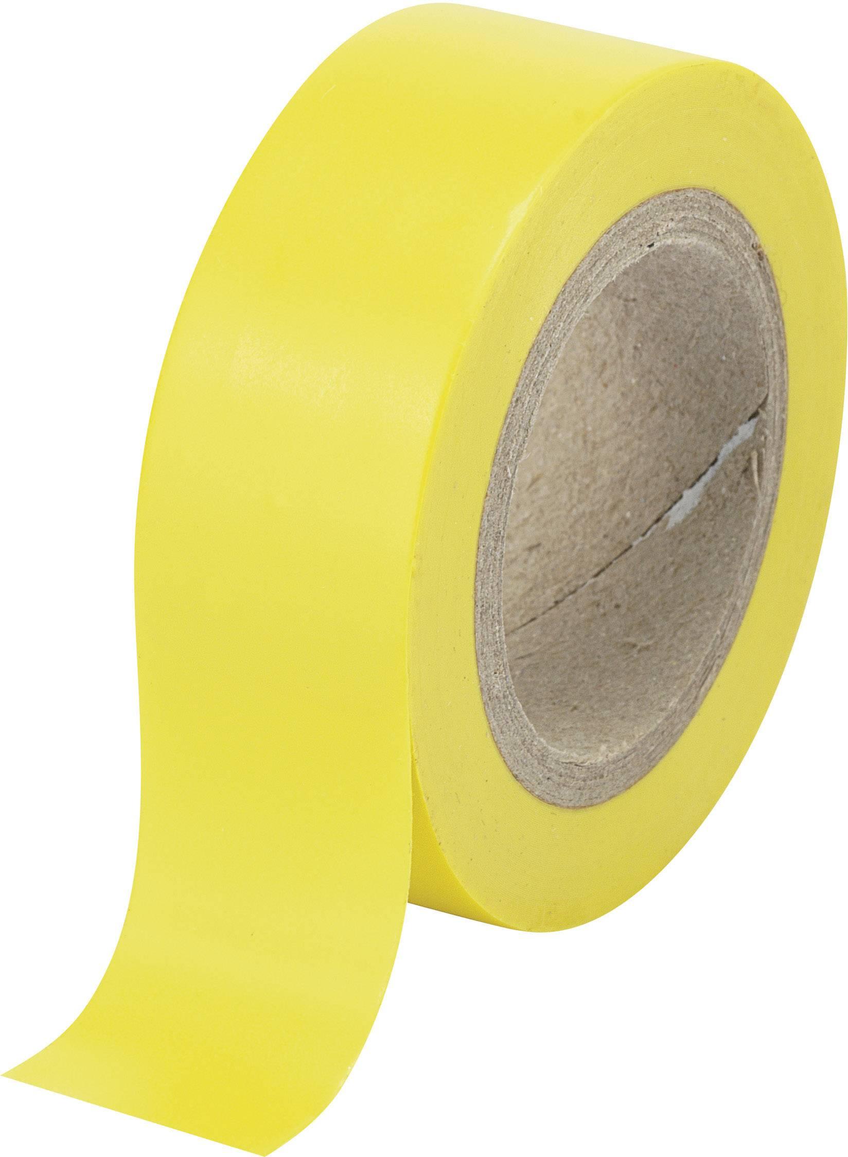 Izolační páska TRU COMPONENTS SW12-014YL 1564020, (d x š) 25 m x 19 mm, žlutá, 1 role