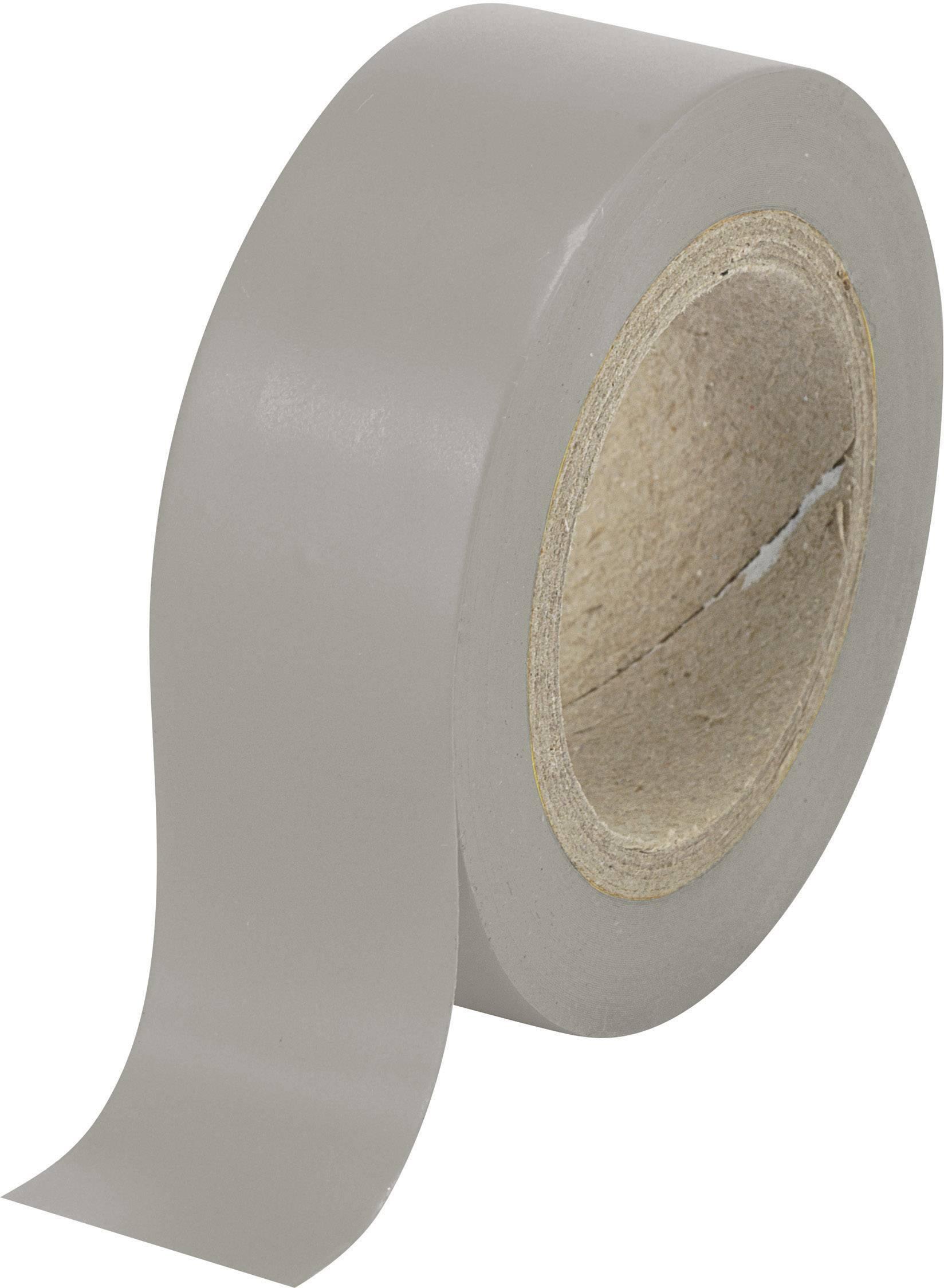 Izolačná páska TRU COMPONENTS SW12-014GY 1564122, (d x š) 25 m x 19 mm, sivá, 1 roliek