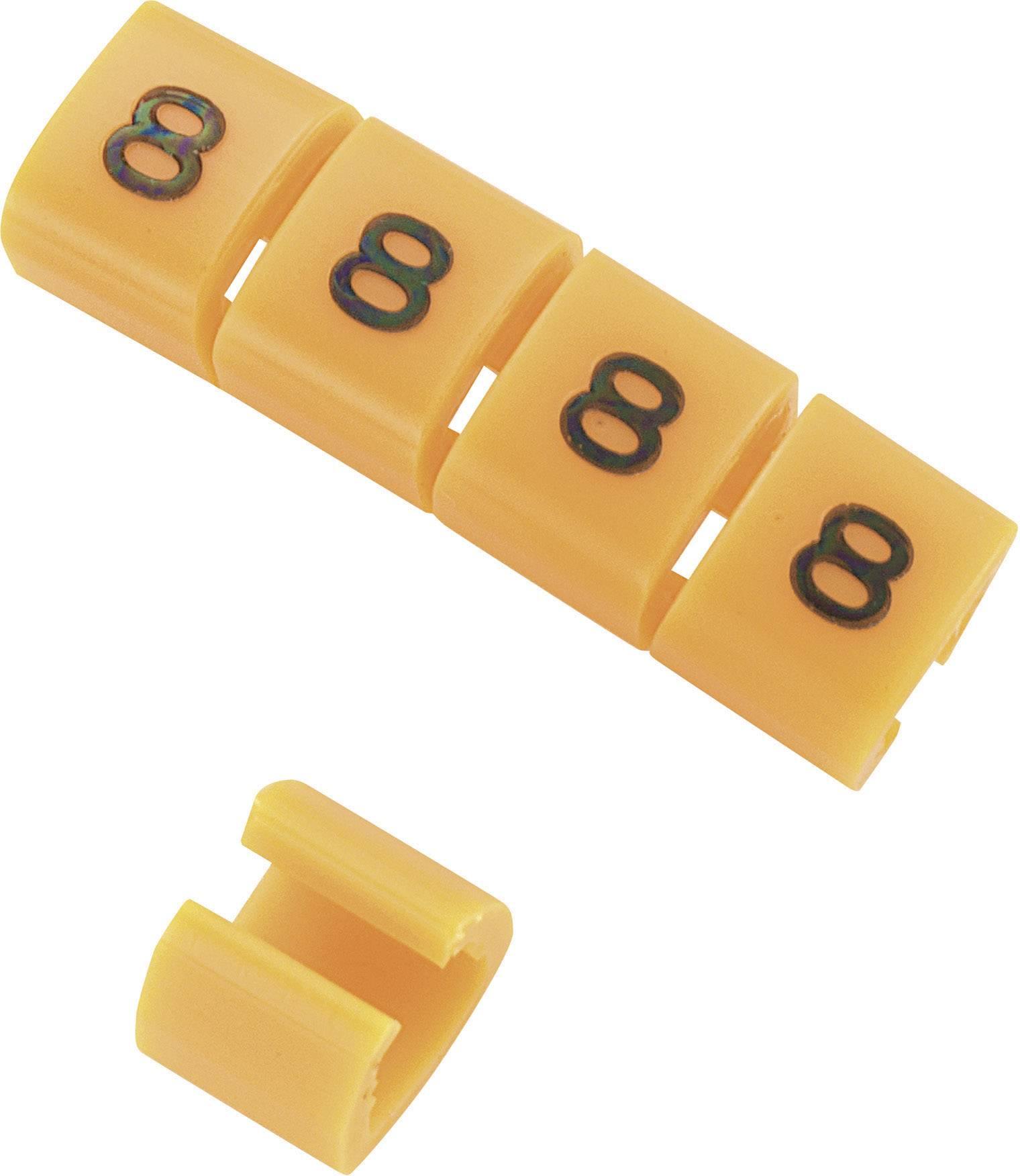 Označovacie objímka na káble KSS MB2/8, oranžová, 10 ks