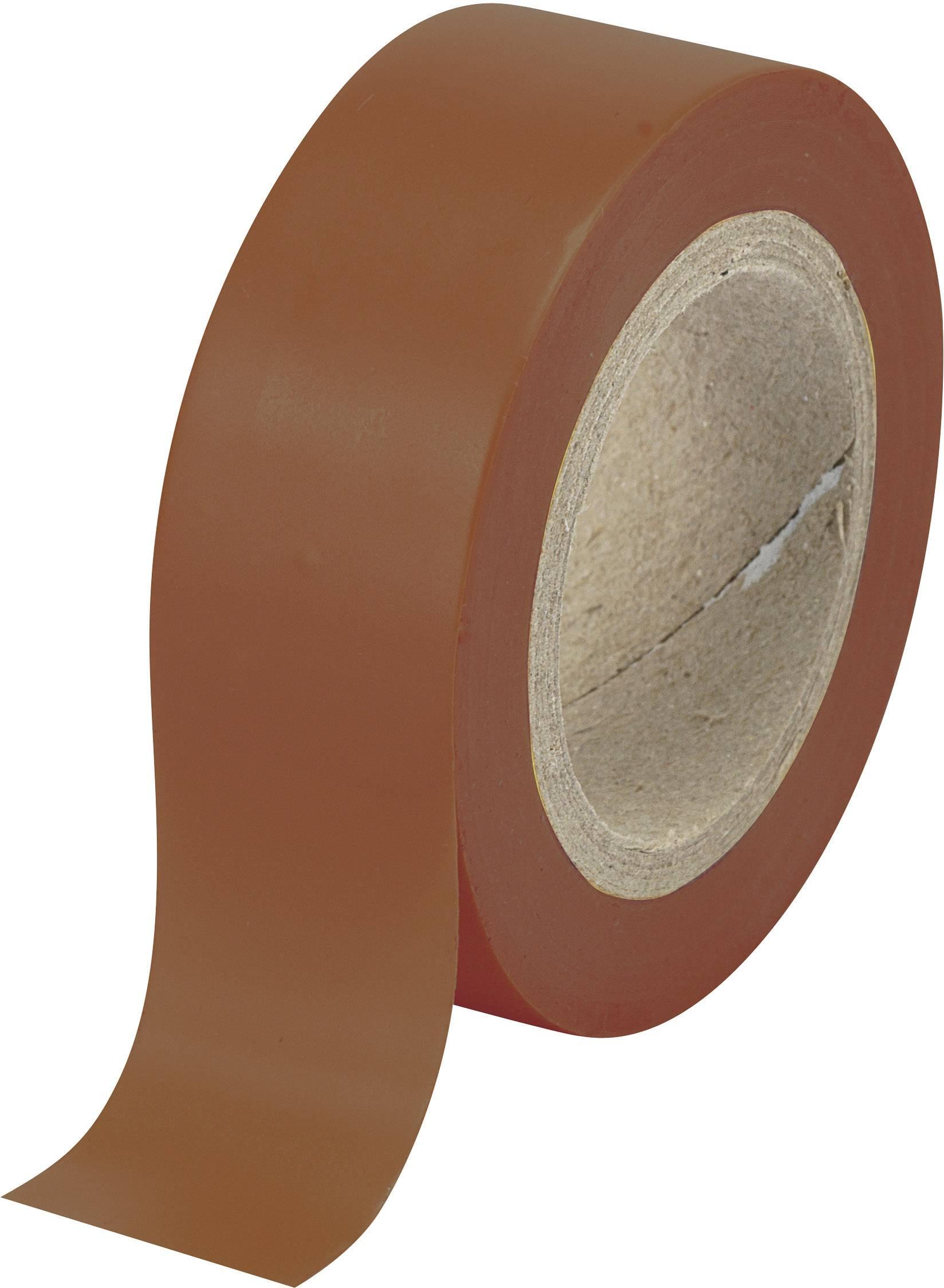 Izolačná páska Conrad Components 540915BN 548122, (d x š) 10 m x 19 mm, hnedá, 1 roliek