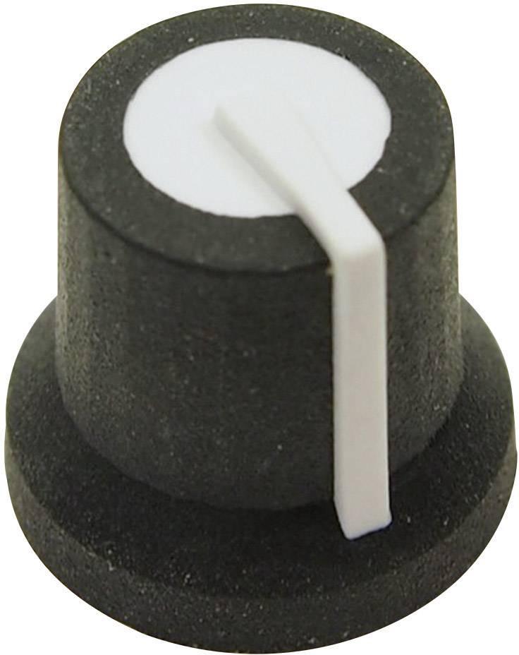 Otočný gombík Cliff CL170822BR, (Ø x v) 16.8 mm x 14.5 mm, čierna/biela, 1 ks