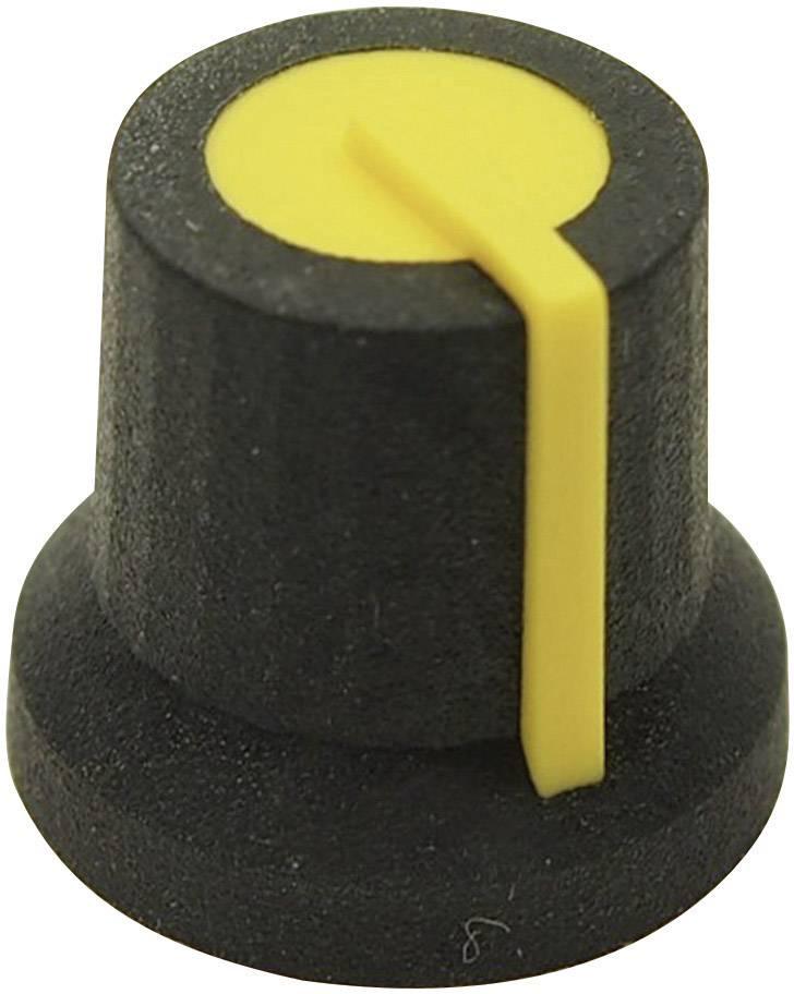 Otočný gombík Cliff CL170826MBR, (Ø x v) 16.8 mm x 14.5 mm, čiernožltá, 1 ks