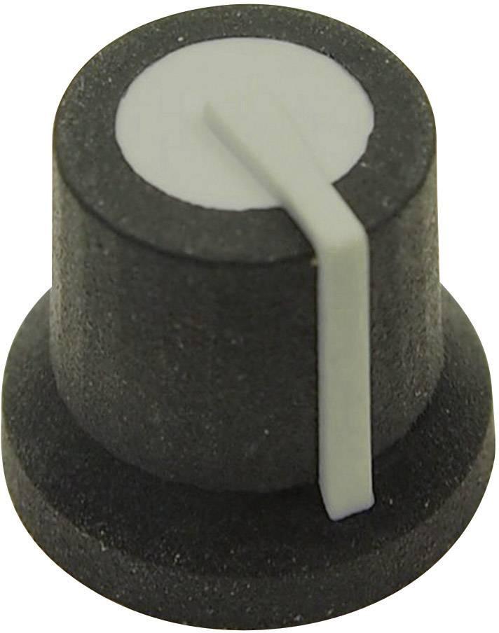 Otočný gombík Cliff CL170825MBR, (Ø x v) 16.8 mm x 14.5 mm, čierna/sivá, 1 ks