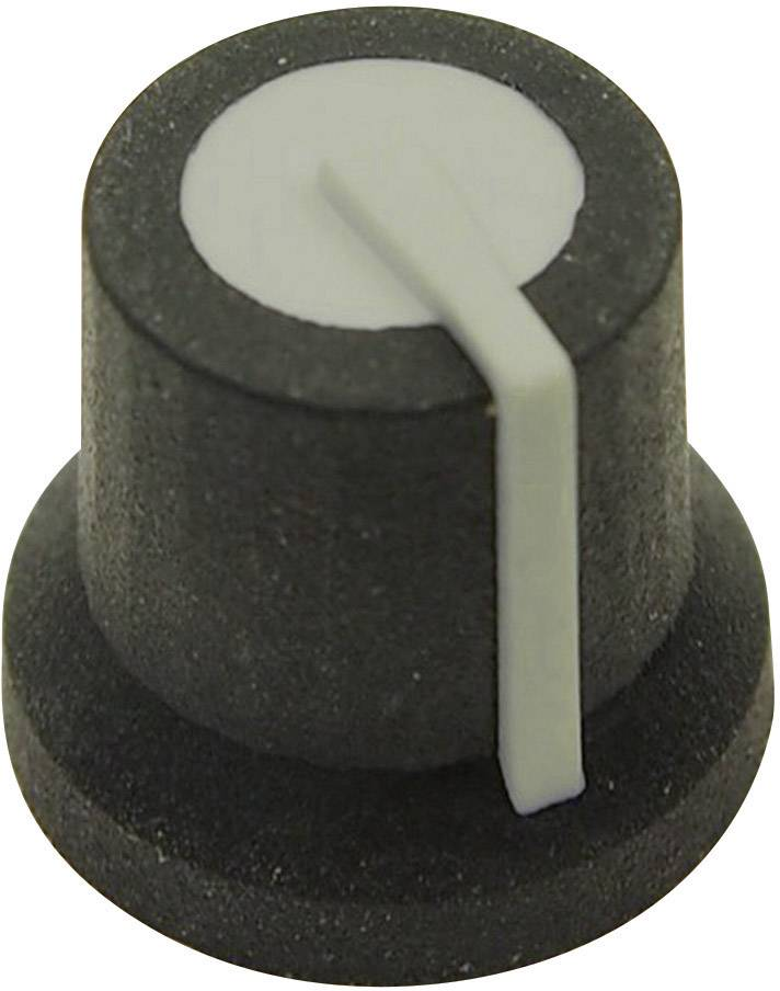 Otočný knoflík Cliff CL170825MBR, pro sérii K87MAR , 6 mm, hladký, šedá