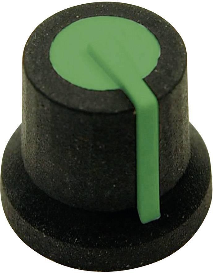 Otočný gombík Cliff CL170828BR, (Ø x v) 16.8 mm x 14.5 mm, čiernozelená, 1 ks