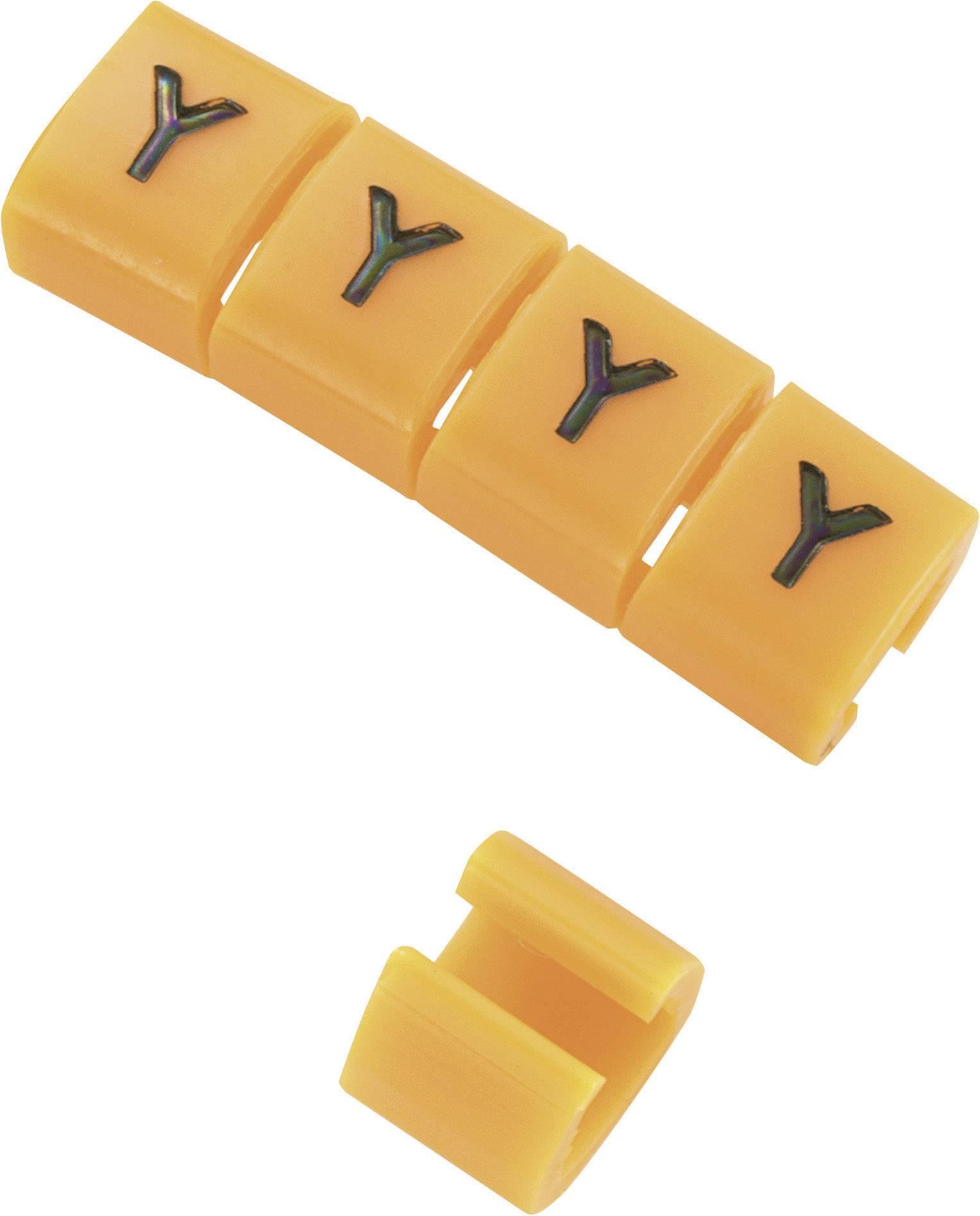 Označovacie objímka na káble KSS MB2/Y, oranžová, 10 ks