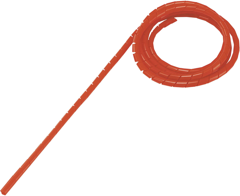 Špirálový káblový oplet Conrad Components WB-0506 548571, červená, 5 m