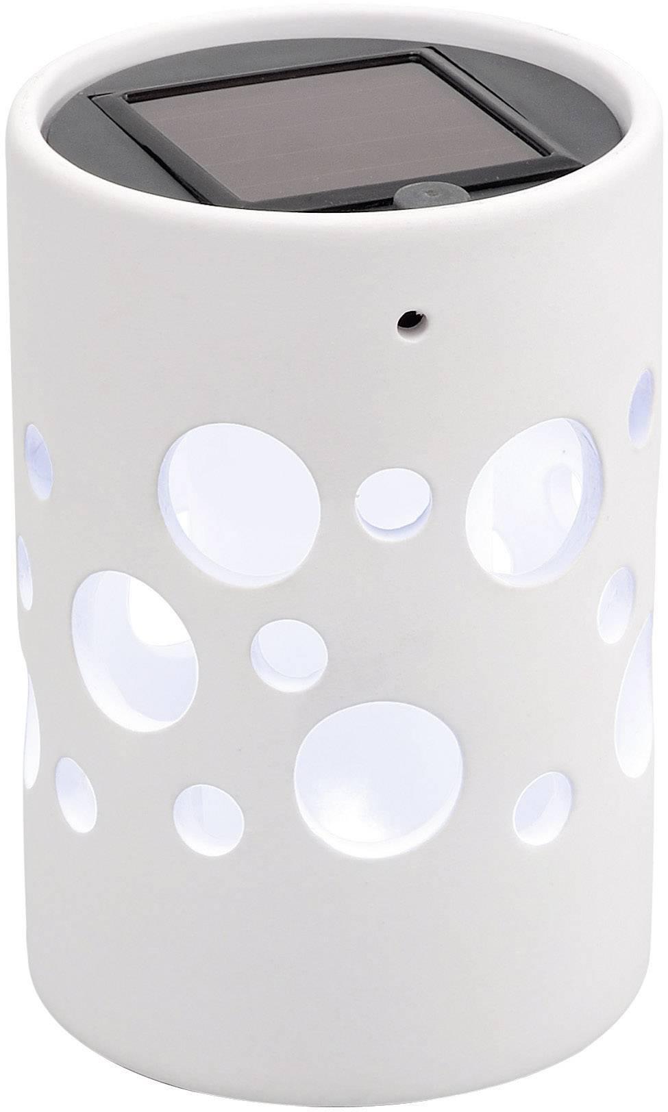 Solární LED světlo válec Konstsmide Genova, bílá (7800-200)