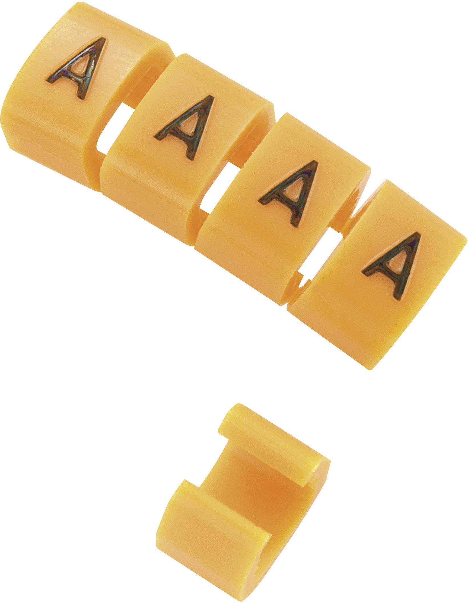 Označovacie objímka na káble KSS MB1/W, oranžová, 10 ks