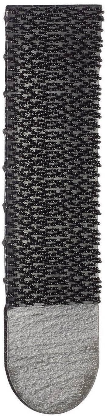 Lepiaci pásik so suchým zipsom 3M 17201BLK, (d x š) 70 mm x 18 mm, čierna, 4 pár