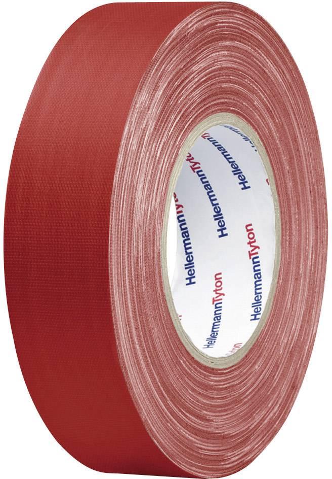 Páska se skelným vláknem HellermannTyton HTAPE-TEX-RD-50x50 712-00901, (d x š) 50 m x 50 mm, červená, 1 role