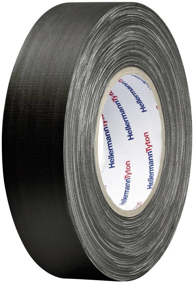 Páska se skelným vláknem HellermannTyton HTAPE-TEX-BK-19X10 712-00204, (d x š) 10 m x 19 mm, černá, 1 role