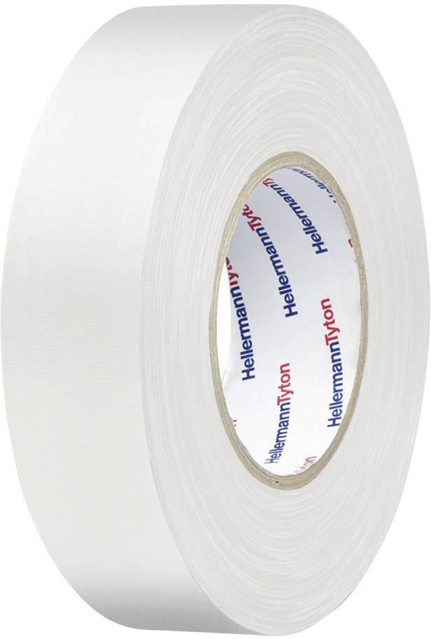 Páska se skelným vláknem HellermannTyton HTAPE-TEX-WH-50x50 712-00905, (d x š) 50 m x 50 mm, bílá, 1 role