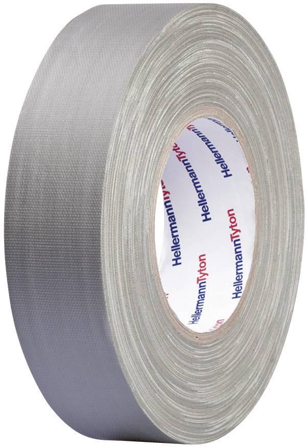 Páska se skelným vláknem HellermannTyton HTAPE-TEX-GY-50x50 712-00906, (d x š) 50 m x 50 mm, šedá, 1 role