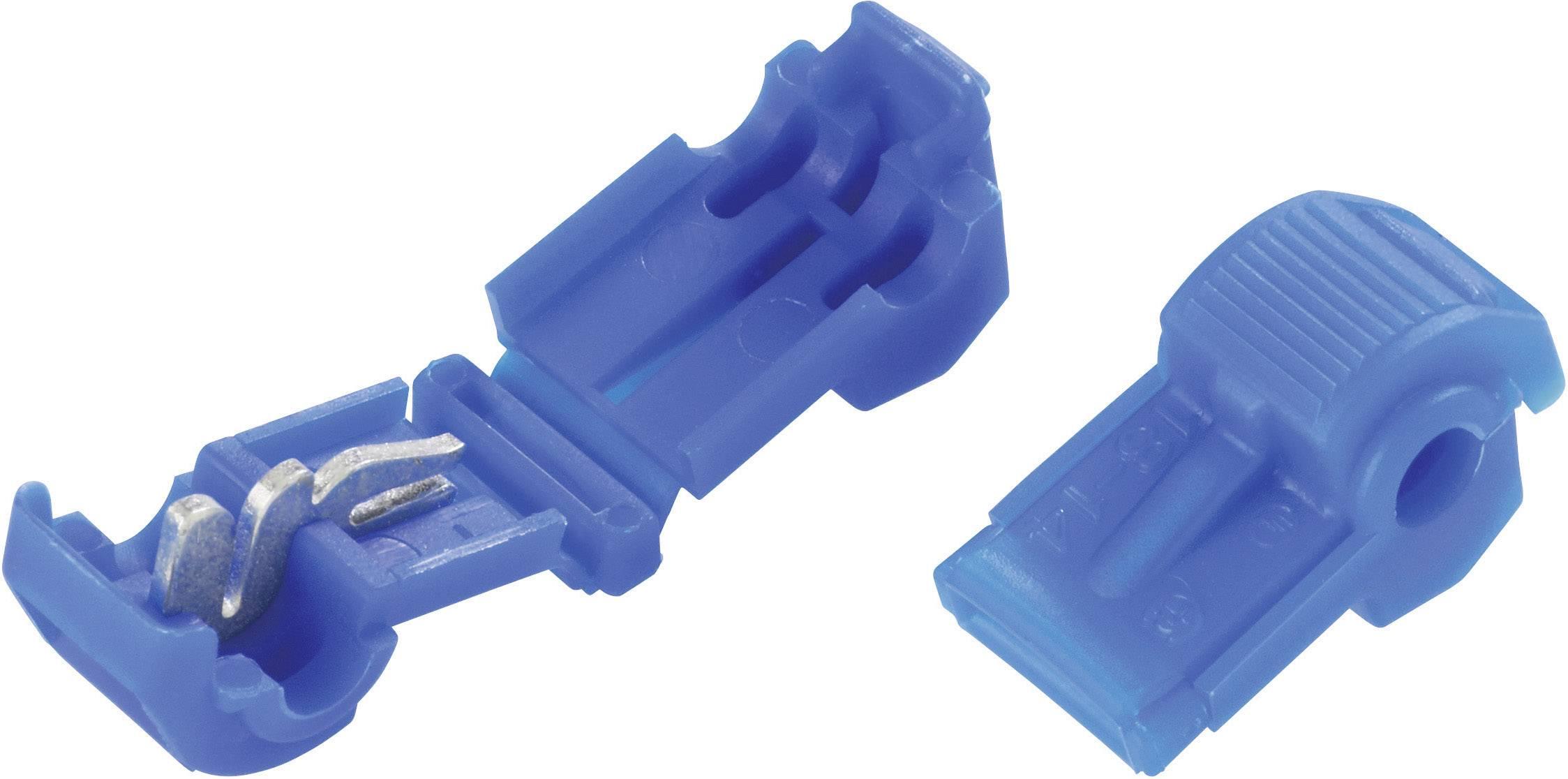 Samorezná rýchlospojka 3M na kábel s rozmerom 0.8-2 mm², pólů 2, 1 ks, modrá