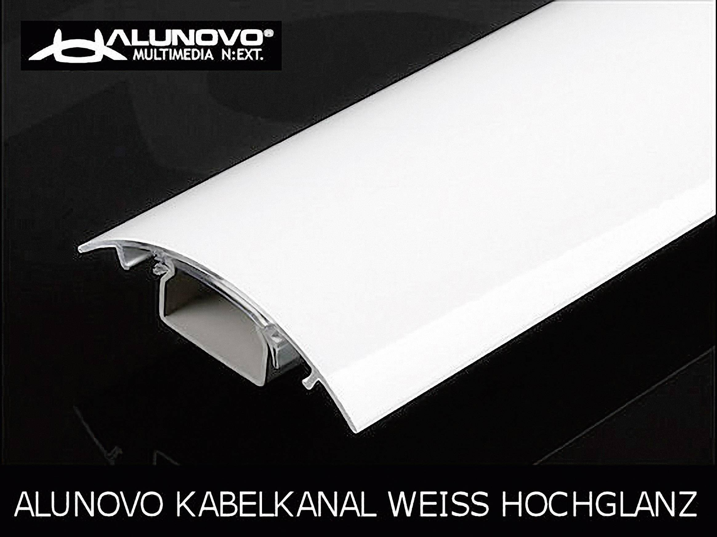 Káblová lišta Alunovo HW90-025, 1 ks, biela (lesklá)
