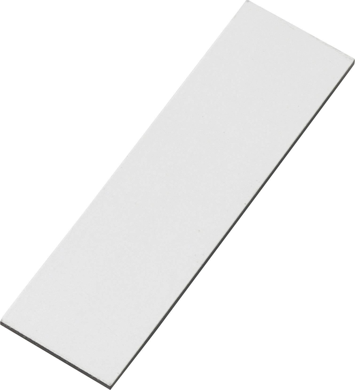 Samolepiace magnet Conrad Components 549931, (d x š) 66 mm x 20 mm, biela, 1 ks