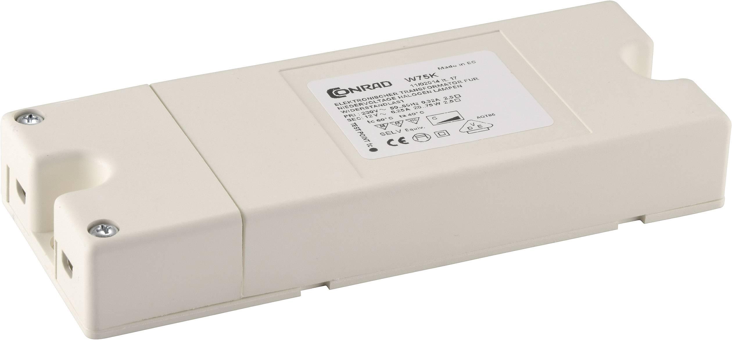 Elektronický transformátor plochý 20 - 75 VA