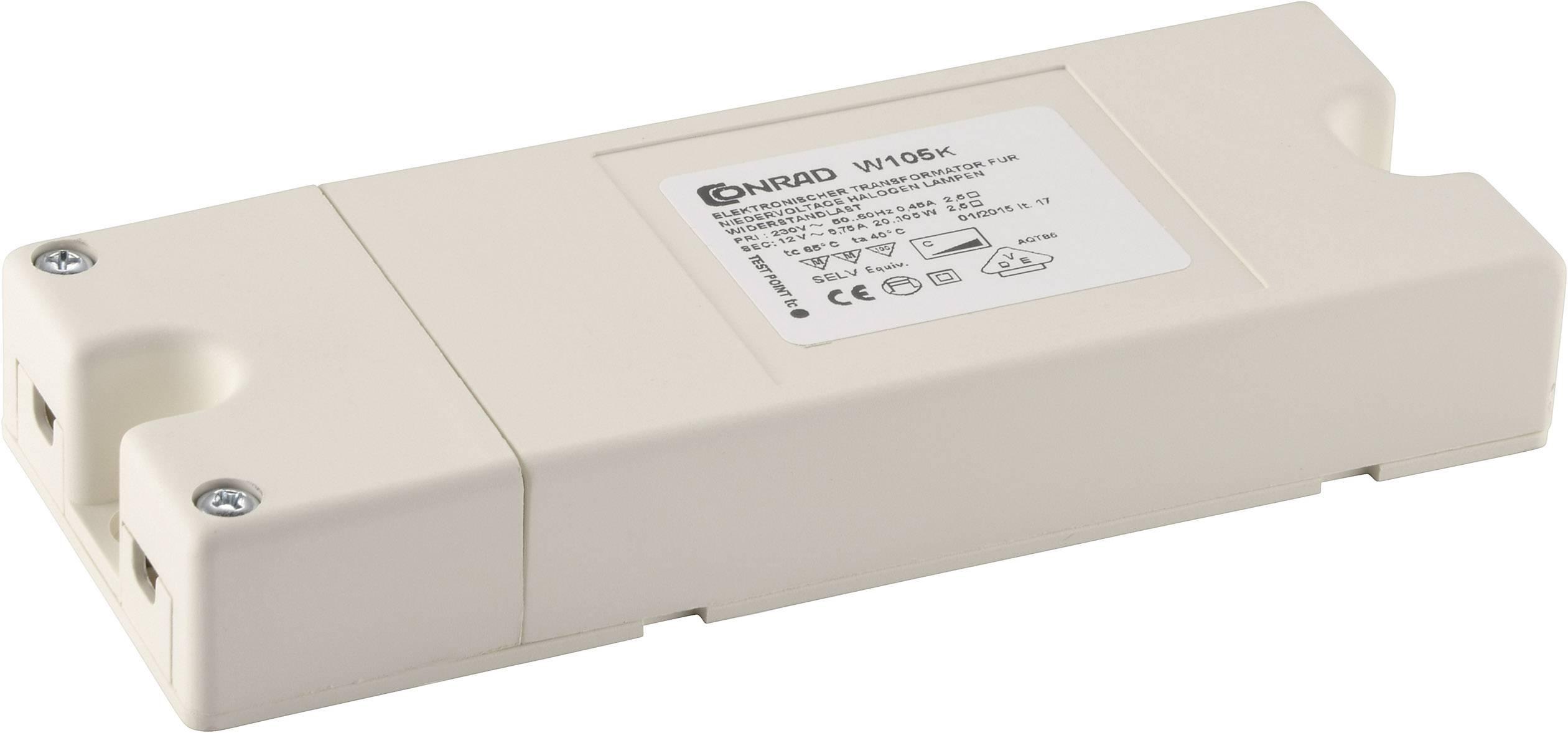 Elektronický transformátor plochý 20 - 105 VA
