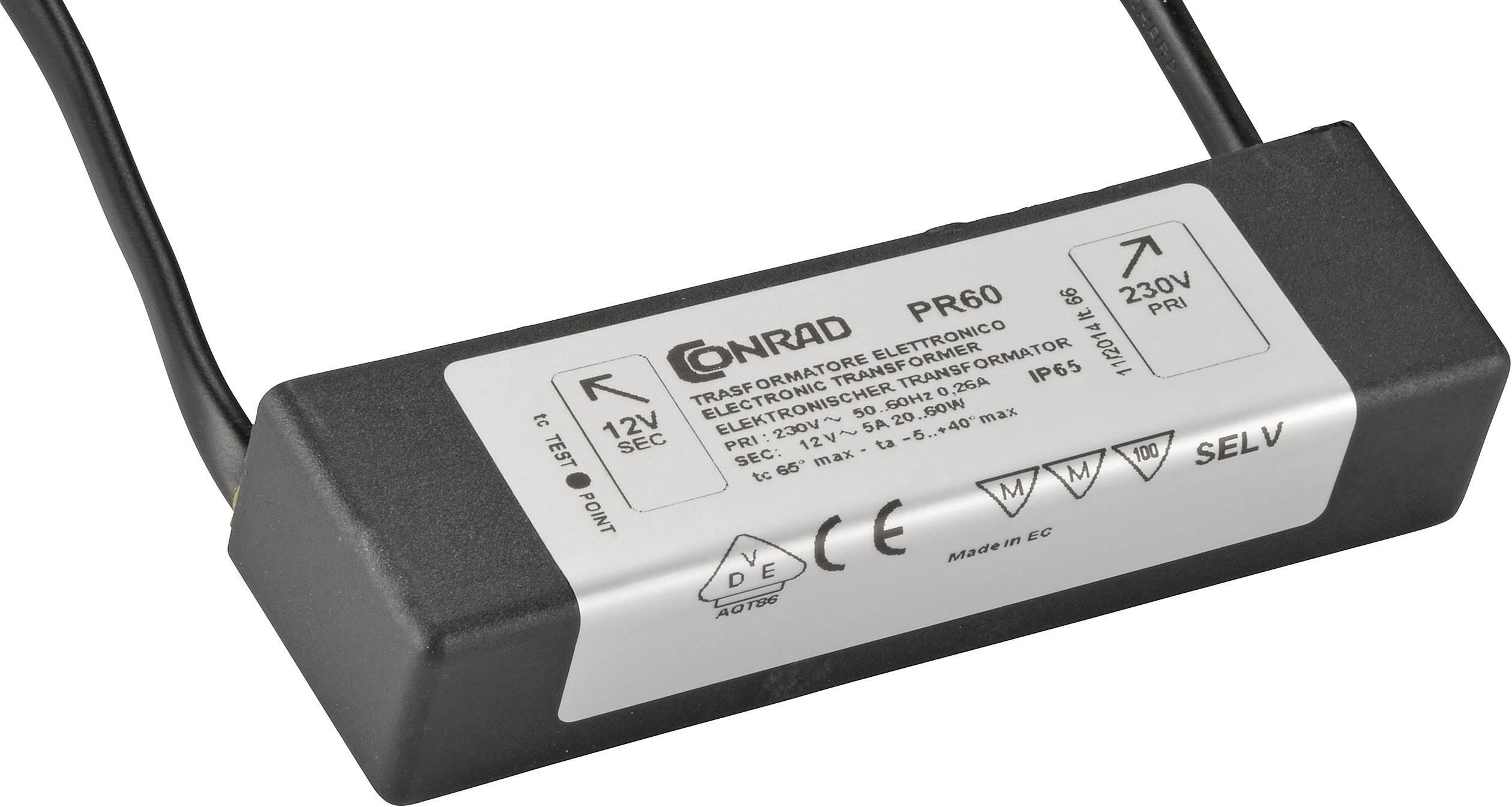 Elektronický transformátor pre vlhké prostredie 20-60 VA