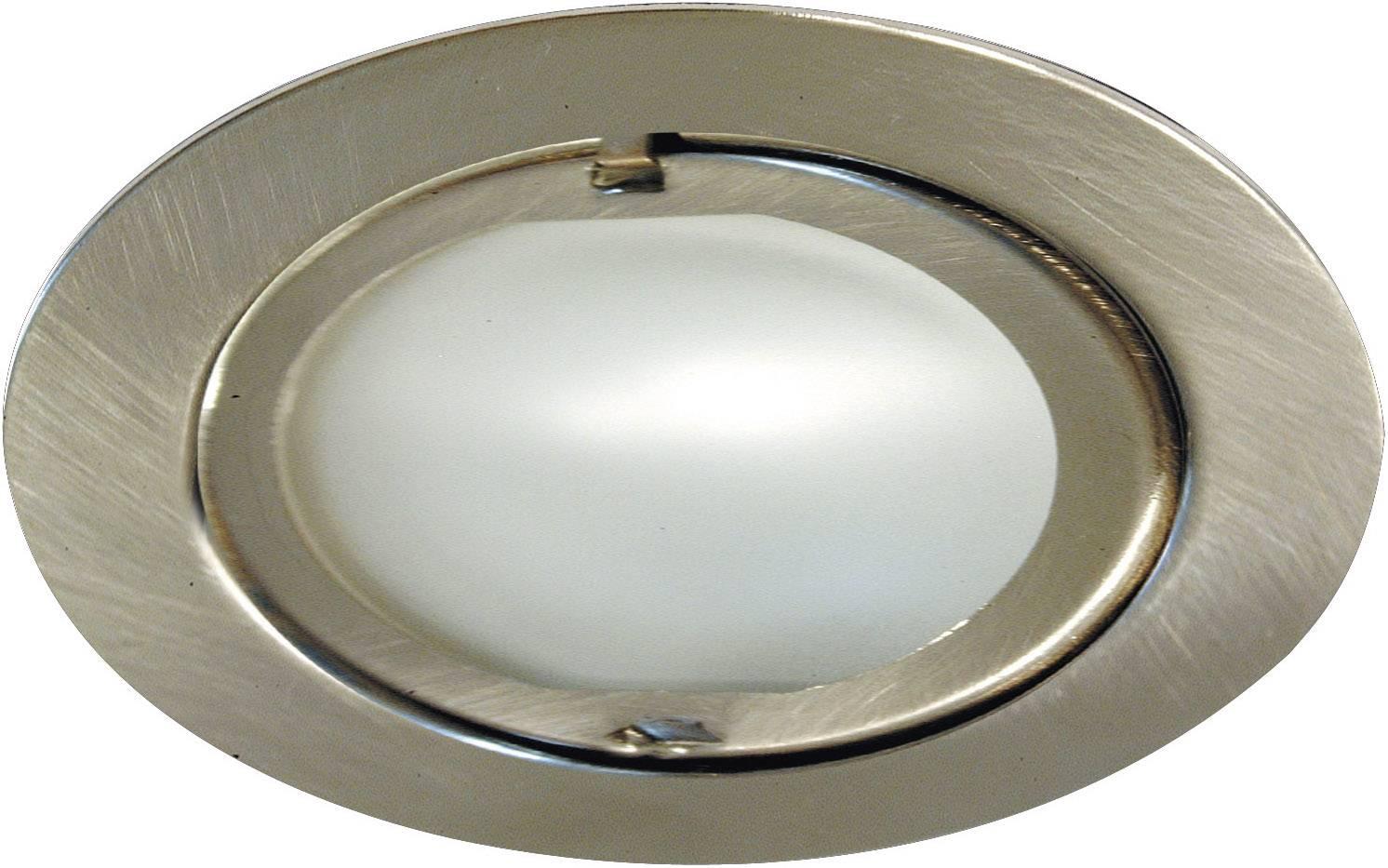 Nábytkové vstavané svietidlo Klip-Klap, leštený kov