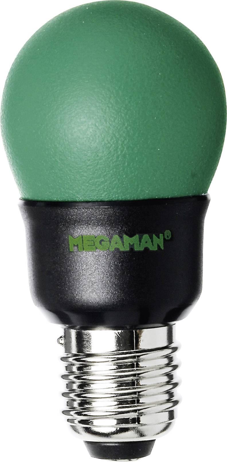 Úsporná žiarovka guľatá Megaman Party Color E27, 7 W, zelená
