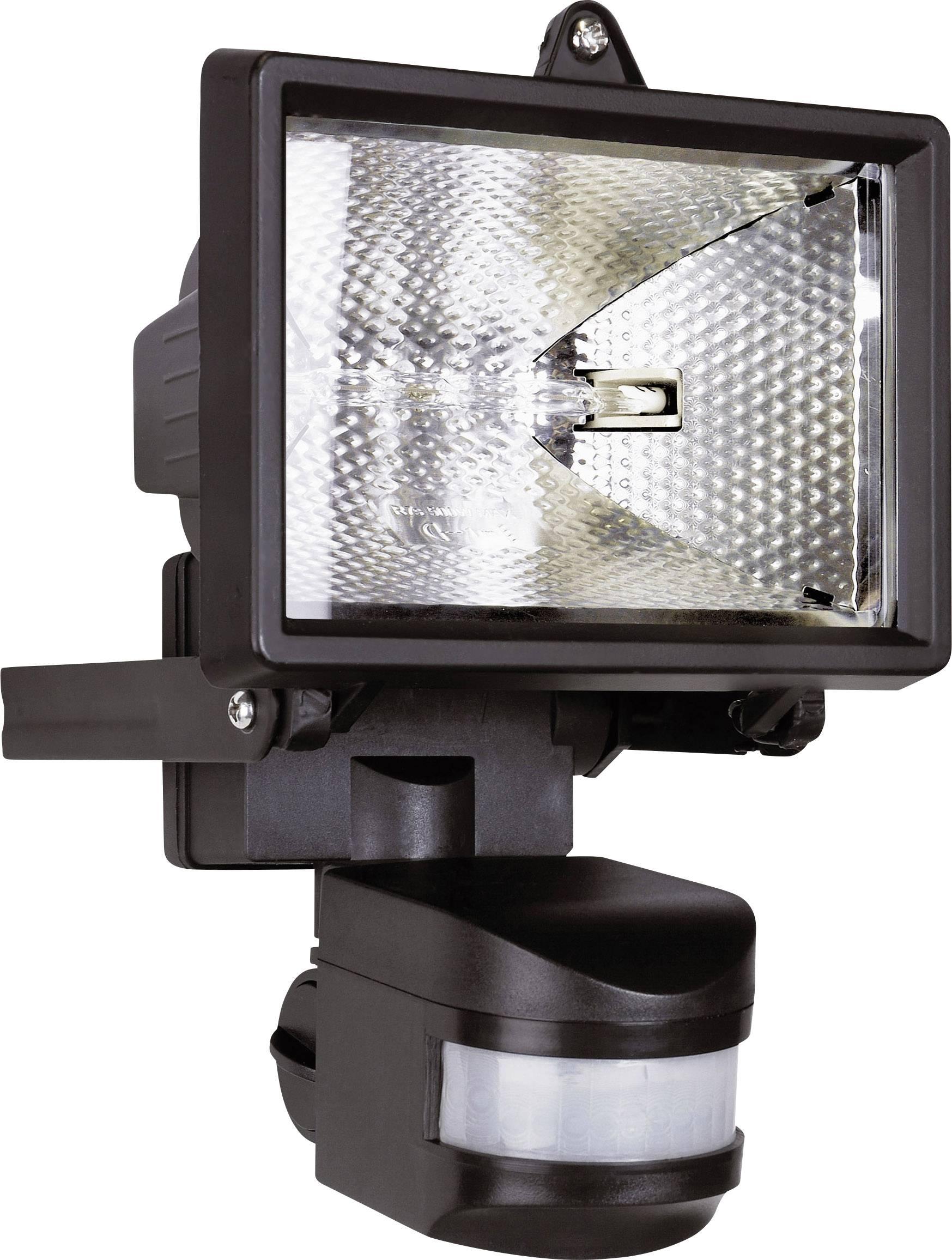 Halogenový reflektor s detektorem pohybu Smartwares ES120, 120 W, IP44, černá