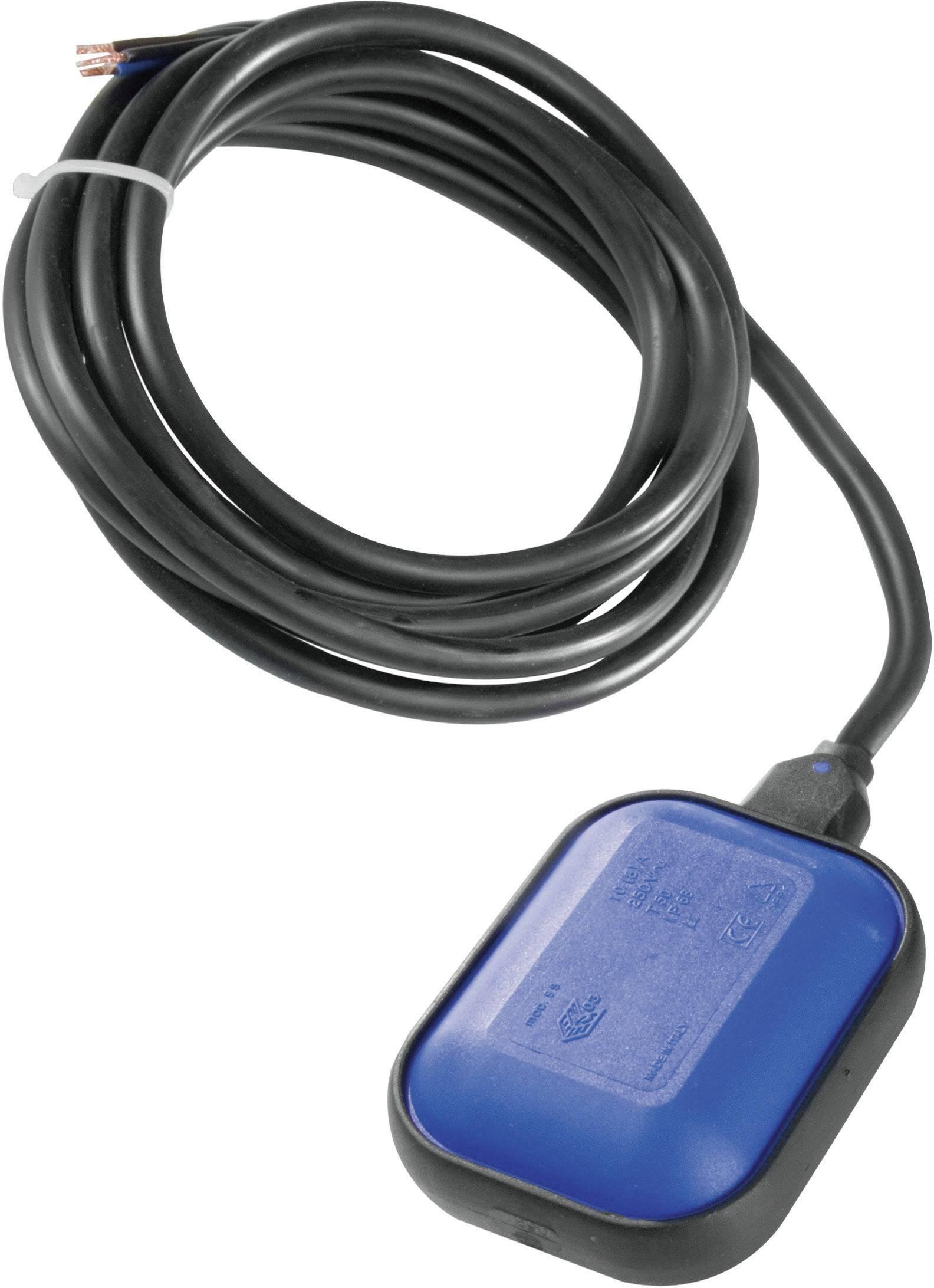 Plavákový spínač Wallair pre napúšťanie/vypúšťanie, 3 m, modrý