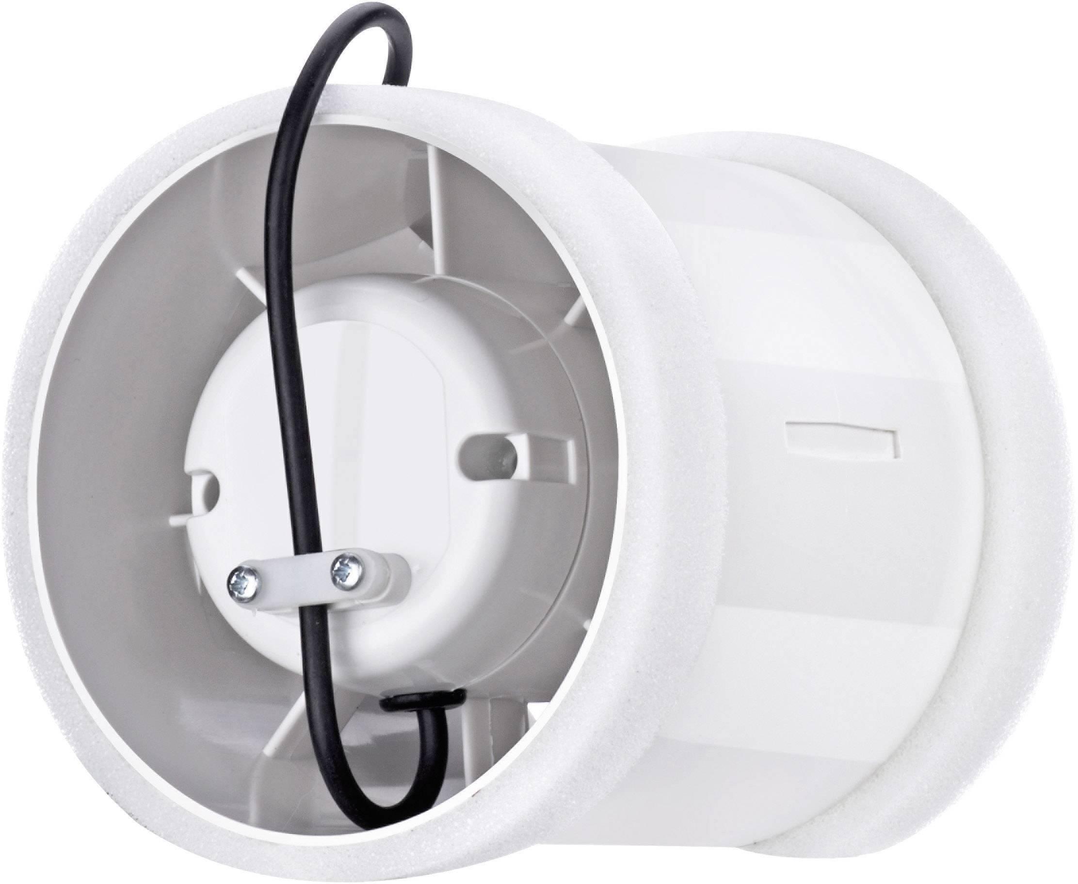 Ventilátor do potrubí Sygonix, 180 m³/h, 125 mm, bílá