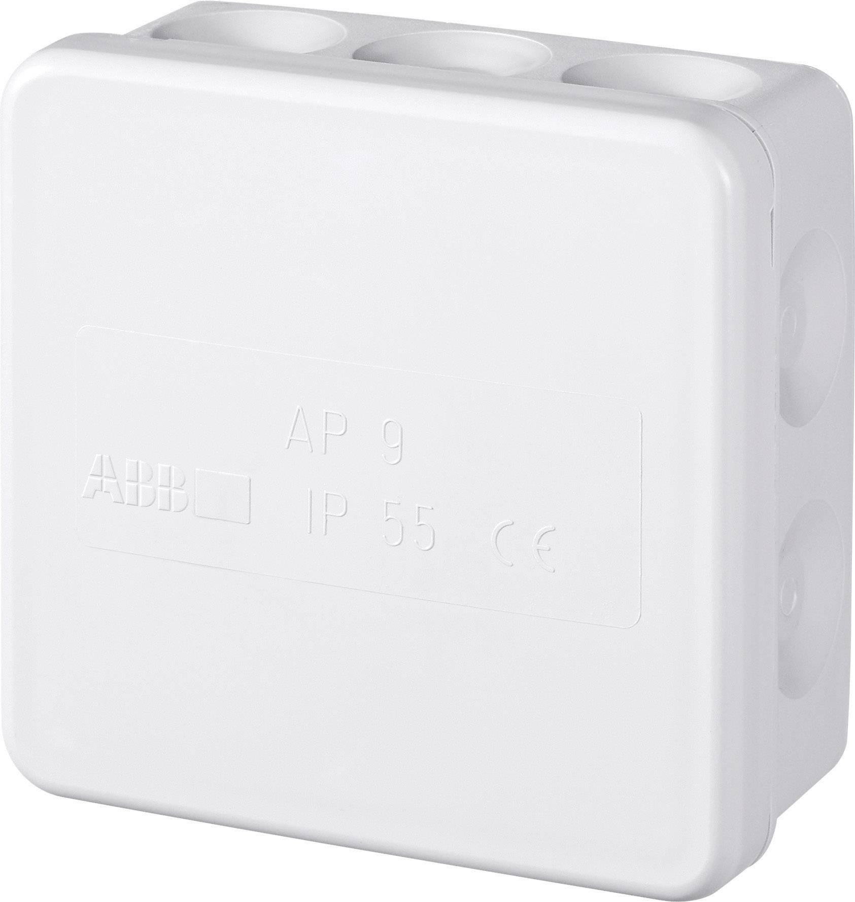 Rozbočovacia krabica IP55 ABB, 104 x 104 mm, sivá, 2TKA140003G1