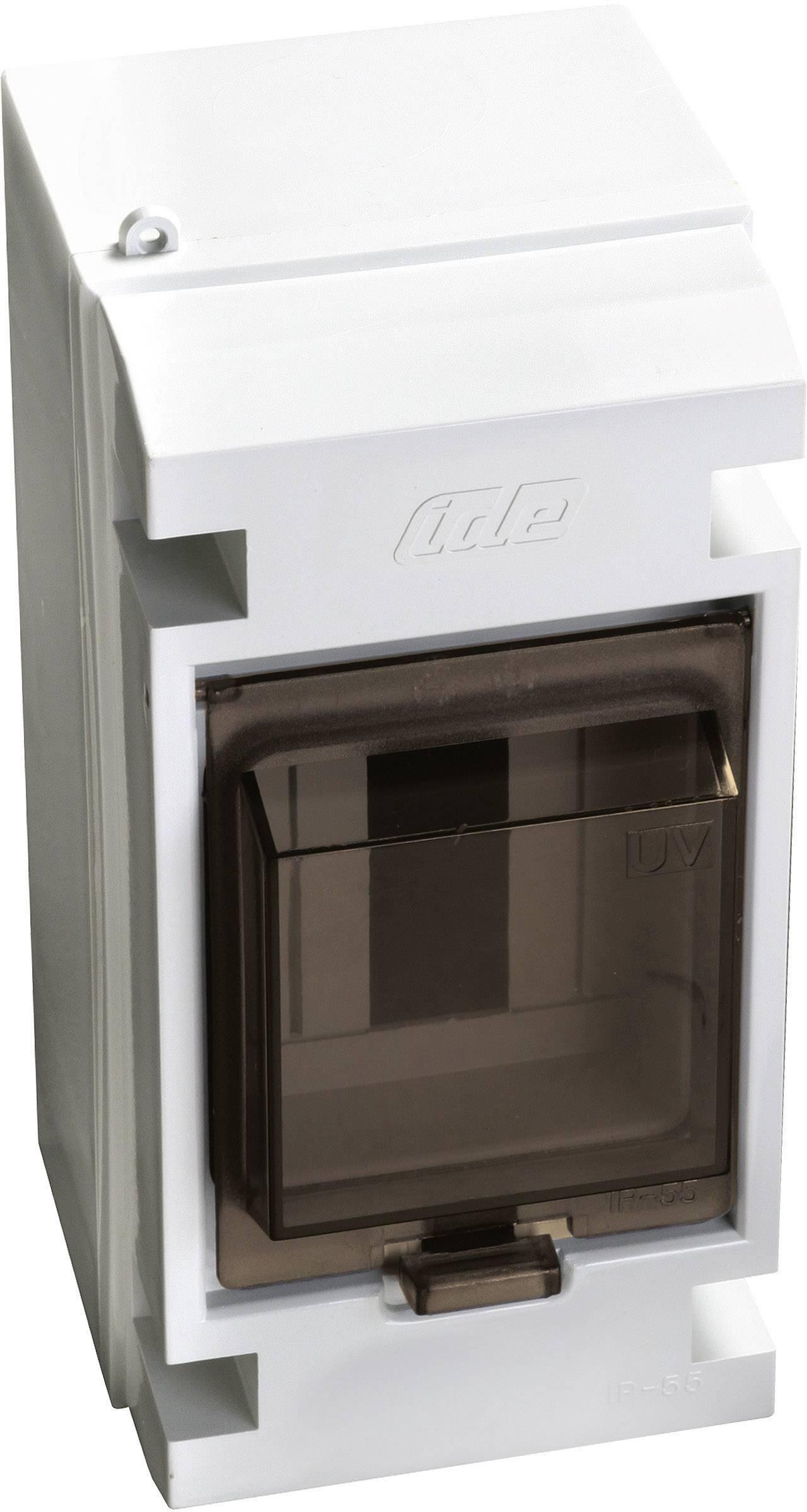 Jednoradová rozvodná skriňa IDE 20000 na omietku, 3 moduly, IP55