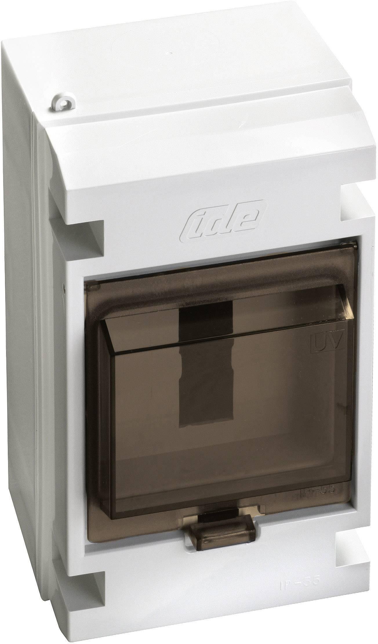 Jednoradová rozvodná skriňa IDE 20100 na omietku, 4 moduly, IP55