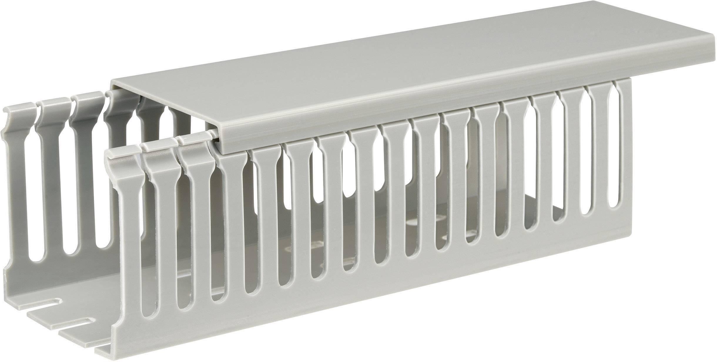 Elektroinstalační lišta, 65x65 mm, 2 m, šedá