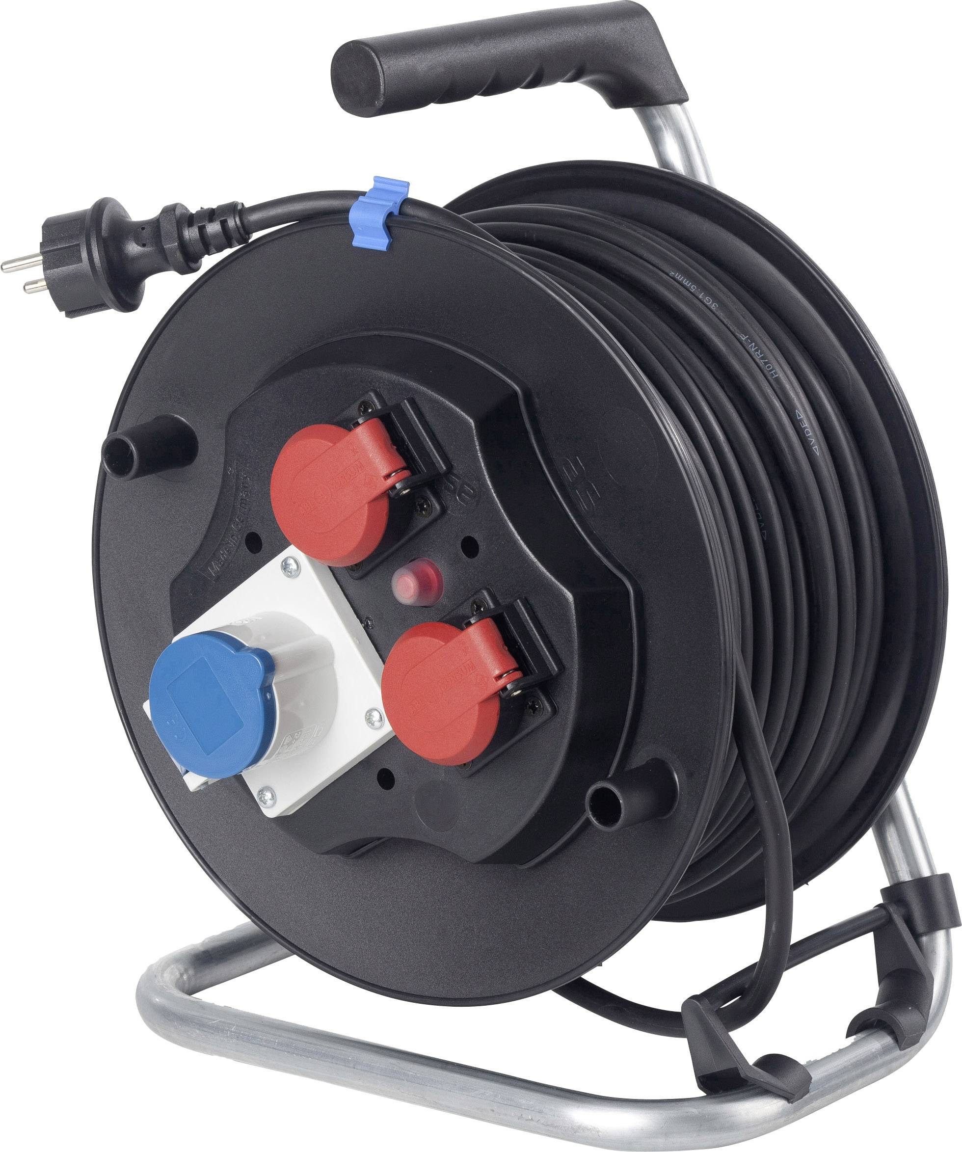 Kabelový buben AS Schwabe Camping CEE, 10174, 2 zásuvky, 1 CEE Cara zásuvka, 40 m, černá