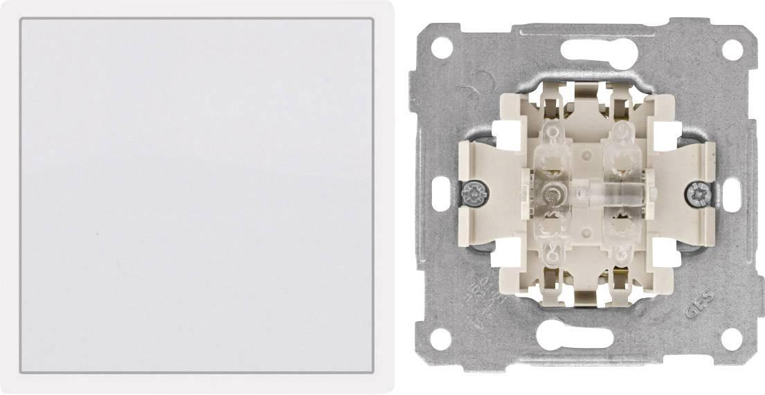 PERA zabudovateľný prepínač, vypínač Pera čisto biela 105000