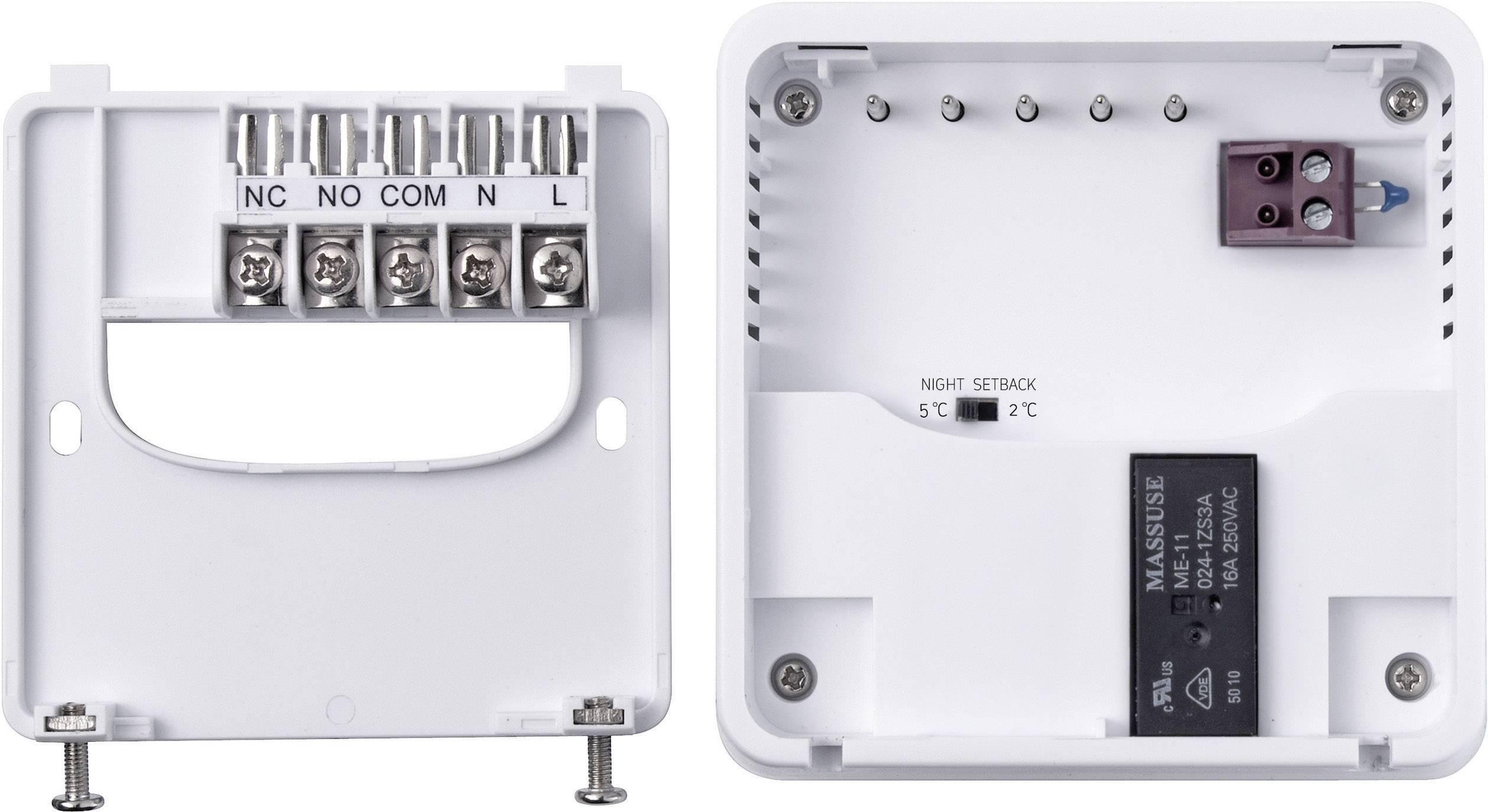 Izbový termostat s LCD Sygonix tx.2 33988Q, 5 až 30 °C, biely