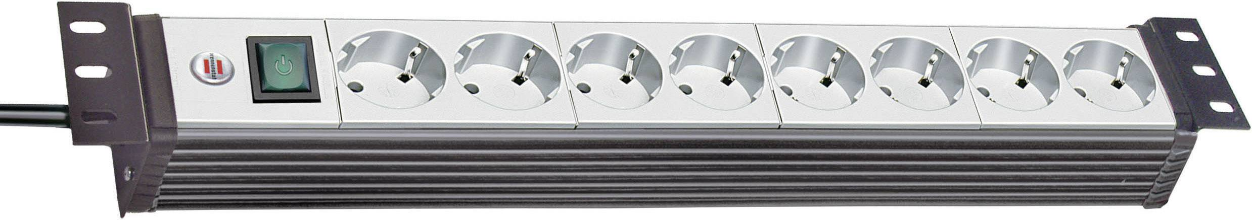 Zásuvková lišta Brennenstuhl Premium-Line, 1156057018, 8 zásuviek, čierna/šedá
