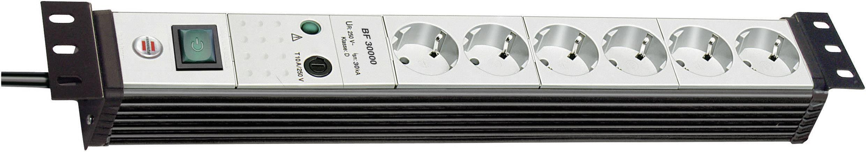 Zásuvková lišta s prepäťovou ochranou Brennenstuhl Premium-Line, 1156057396, 6 zásuviek, čierna